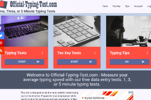 Screenshot from Official-Typing-Test.com