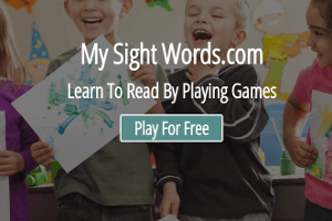 Screenshot from My Sight Words.com